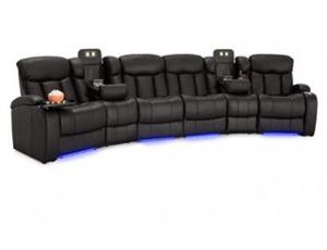 Seatcraft Niagara Sofa Top Grain Leather 7000, Power or Manual Recline, Black or Brown