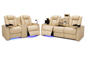 Seatcraft Palladius Sofa & Loveseat 2 Materials, 15+ Colors, Powered Headrest & Lumbar, Power Recline