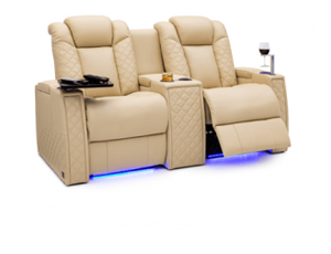 Seatcraft Palladius Loveseat 2 Materials, 15+ Colors, Powered Headrest & Lumbar, Power Recline