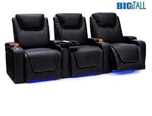 Seatcraft Pantheon Big & Tall 400lb Capacity Seating, Top Grain Leather 7000, Powered Headrest & Lumbar, Power Recline, Black or Brown