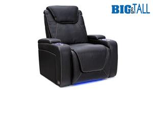Seatcraft Pantheon Big & Tall 400lb Capacity Seating, Top Grain Leather 7000, Powered Headrest & Lumbar, Power Recline, Black or Brown, Single Recliner