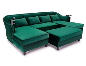 Cavallo Province Media Lounge Sofa Bella Fabric, 60+ Colors