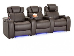 Seatcraft Rockford 4 Materials, 15+ Colors, Powered Headrest, Power Recline, Straight or Curved Rows