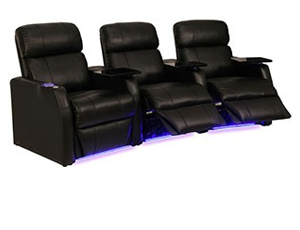 Seatcraft Sienna Curved Top Grain Leather 7000, Power Recline, Black or Brown