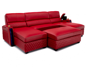 Seatcraft Your Choice Solarium Media Lounge Sofa 3 Materials, 15+ Colors, Power Chaiseloungers