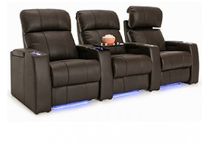 Seatcraft Sonoma Top Grain Leather 7000, Powered Headrest, Power Recline, Black or Brown