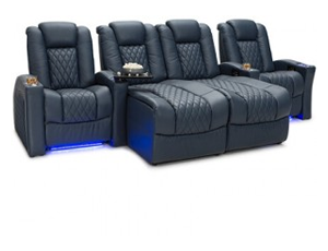 Seatcraft Stanza Chaise 4 Materials, 15+ Colors, Powered Headrest & Lumbar, Power Recline, Straight Rows