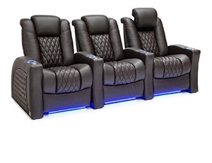 Seatcraft Stanza Top Grain Leather 7000, Powered Headrest & Lumbar, Power Recline, Black, Brown, or Red