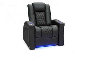 Seatcraft Stanza Top Grain Leather 7000, Powered Headrest & Lumbar, Power Recline, Black, Brown, or Red, Single Recliner