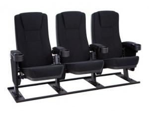 Seatcraft Zenith Free-Standing Base Movie Seats, Fabric, Black