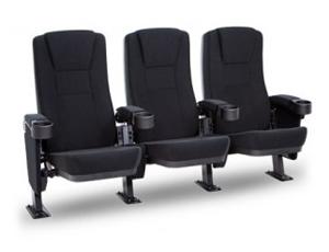 Seatcraft Zenith Movie Seats, Fabric, Black