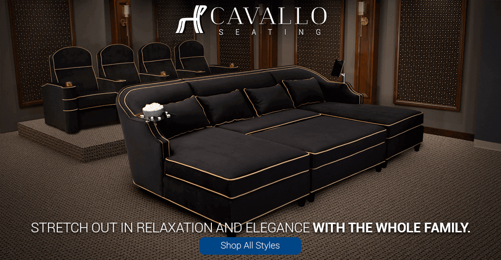 Stretch out in relaxation and elegance with Cavallo Media Lounge Sofas